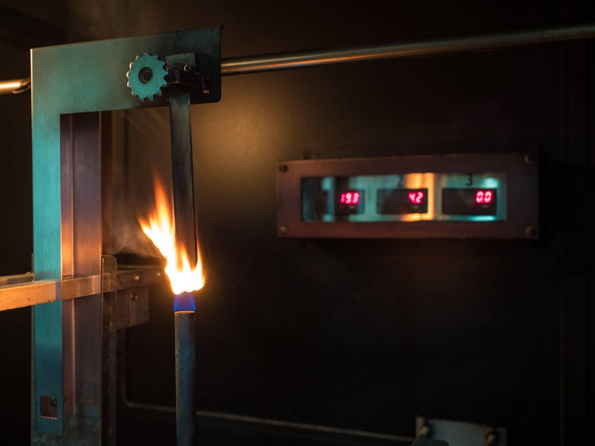 UL 94 testing flame machine